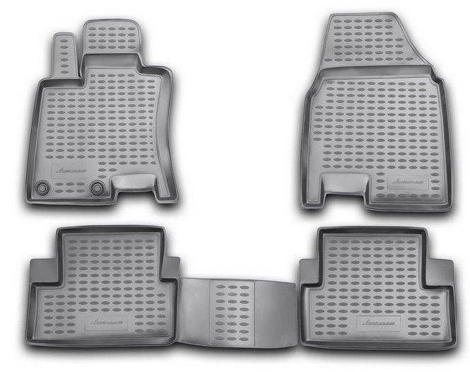 Коврик в багажник с бортиком novline для nissan qashqai+2 i рестайл (2010-2014) (арт