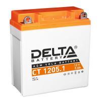 АКБ Мото Delta AGM 12В 5А/ч о.п. ток 65 120x61x129 CT12051