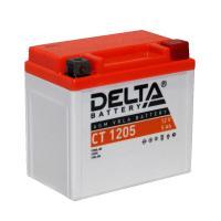 АКБ Мото Delta AGM 12В 5А/ч о.п. ток 80 114x70x106 CT1205